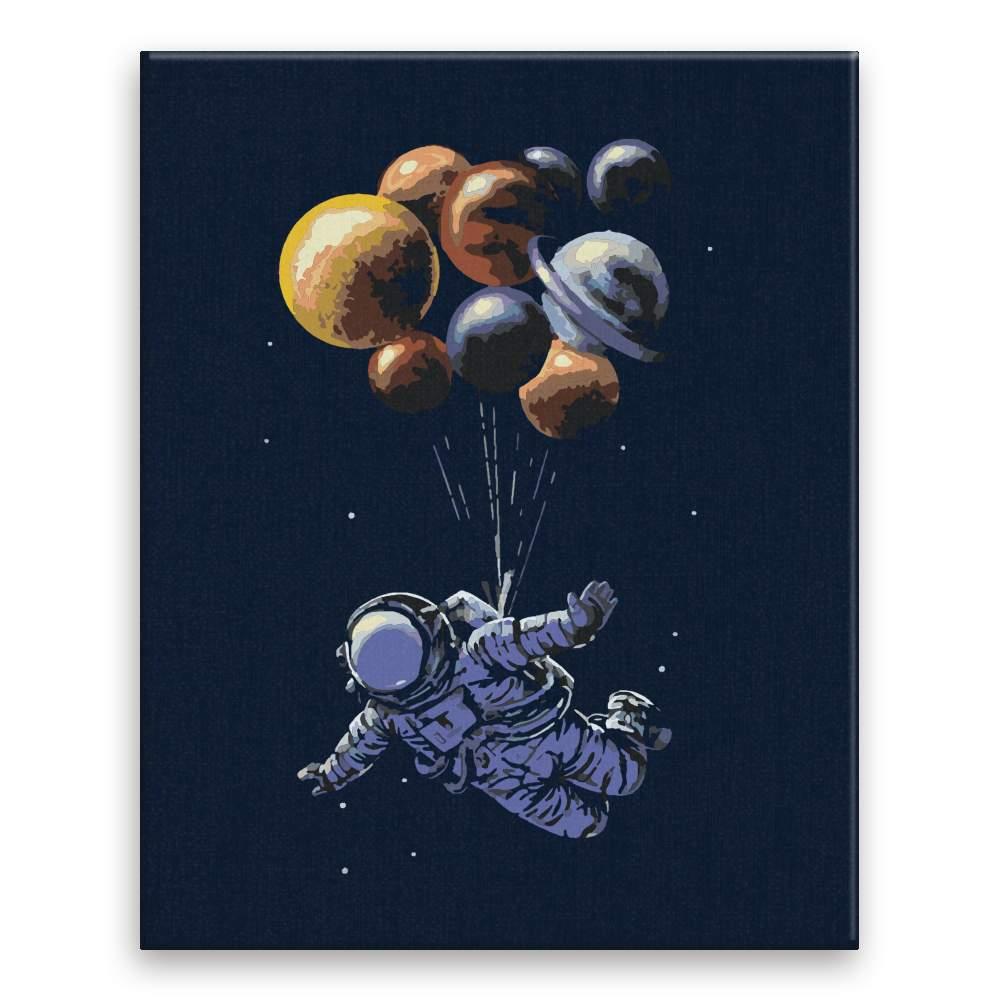Malování podle čísel Astronout a balonky