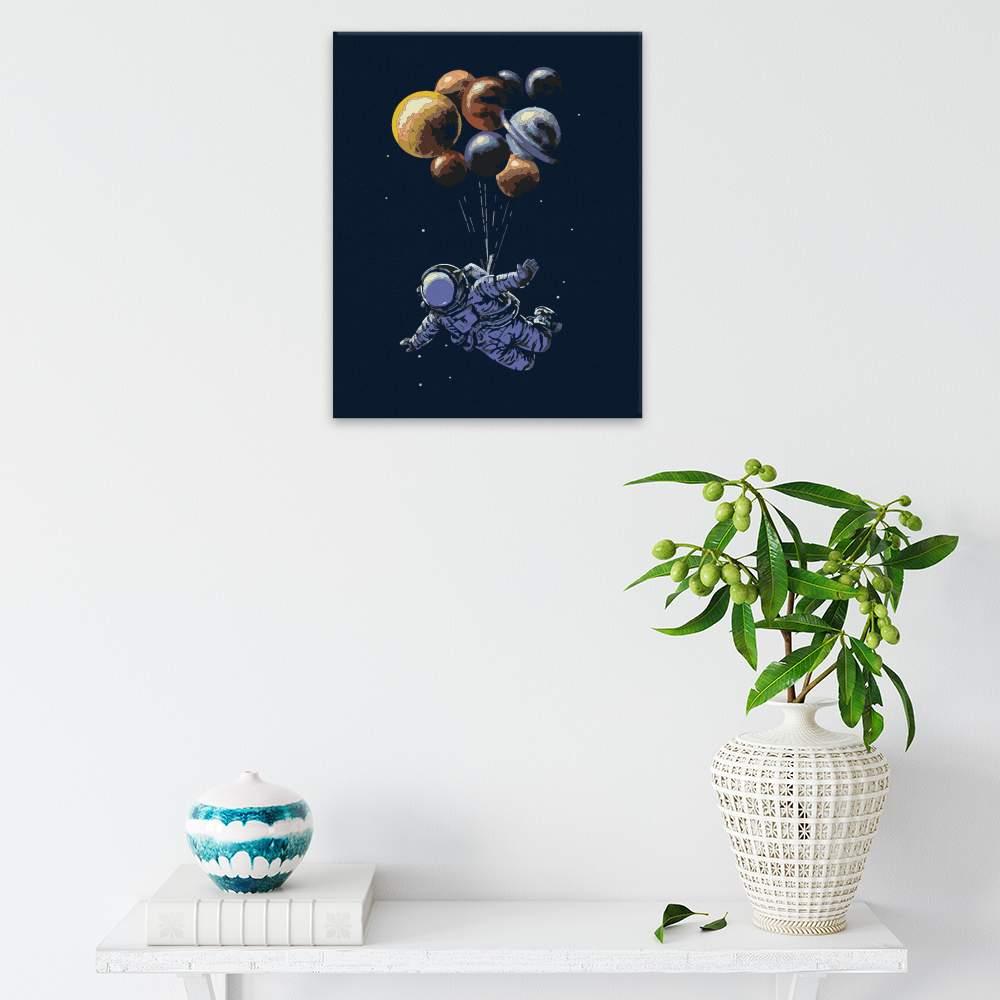 Obraz na zdi Astronout a balonky