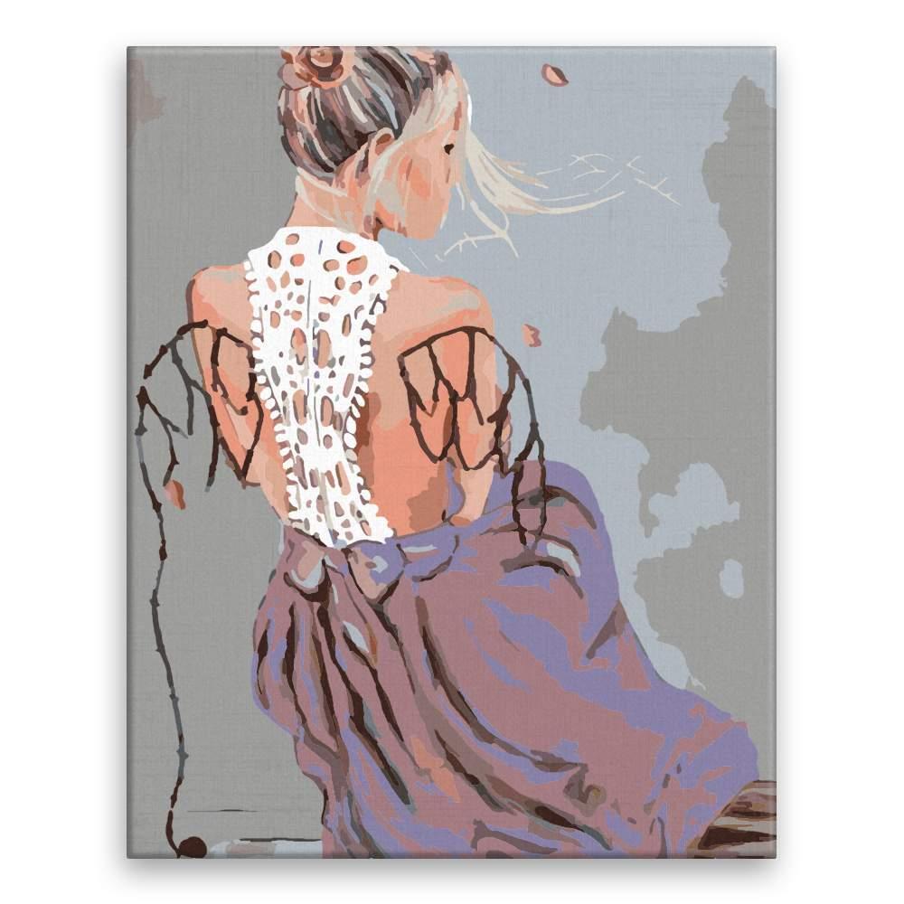 Malování podle čísel Dívka s křídly