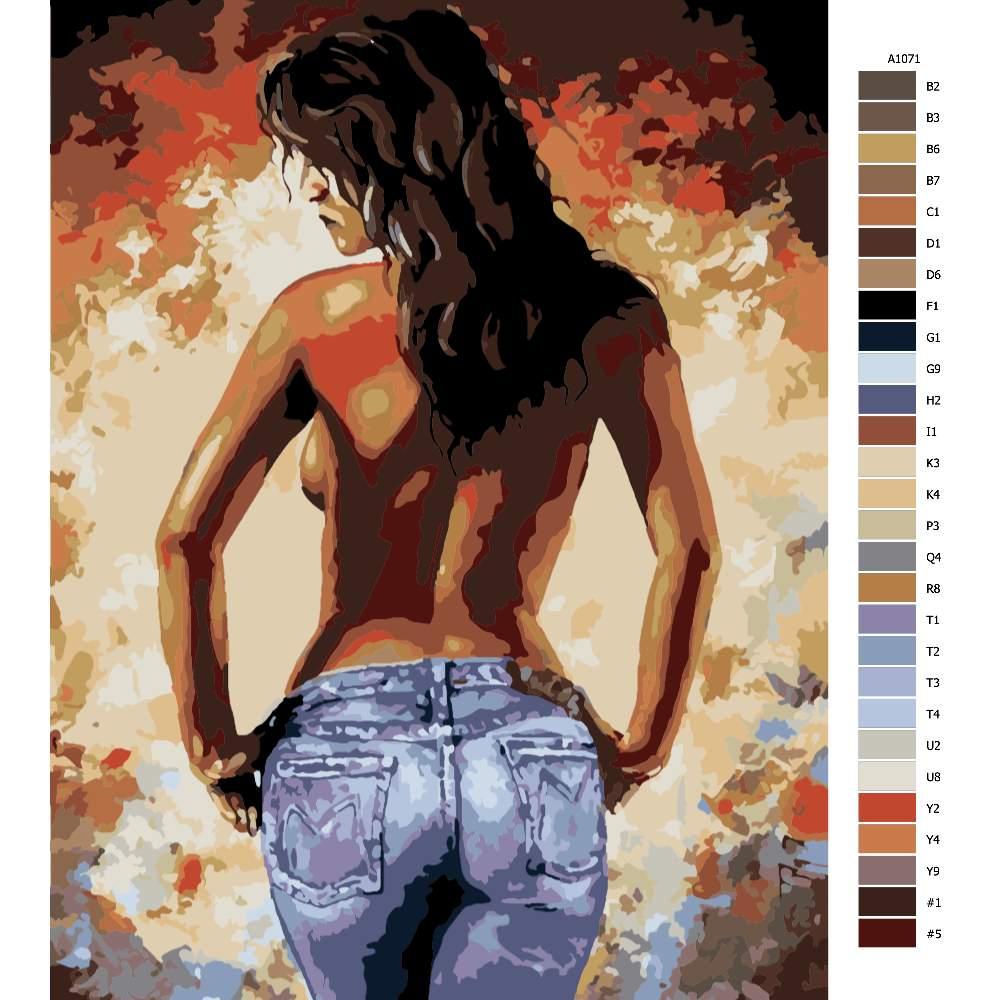 Malování podle čísel Nahá krása