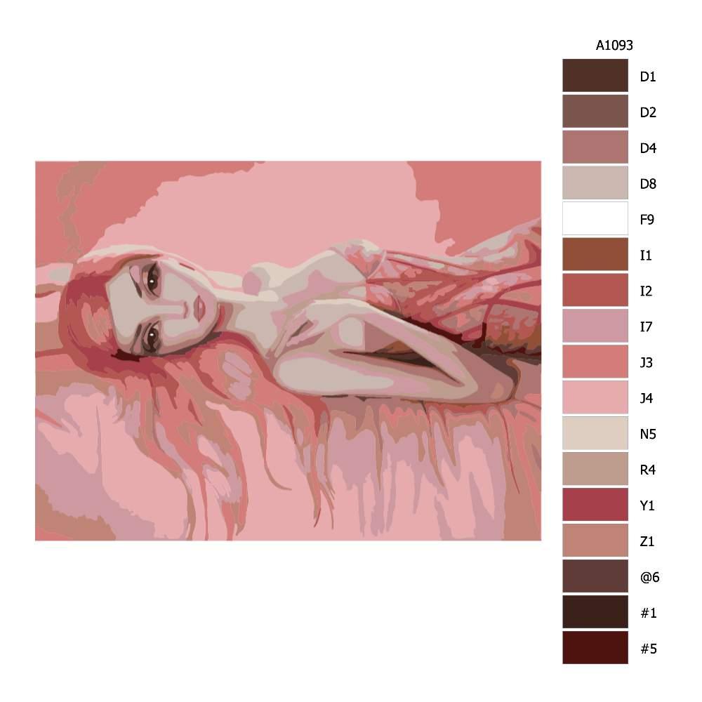 Malování podle čísel Růžová krása