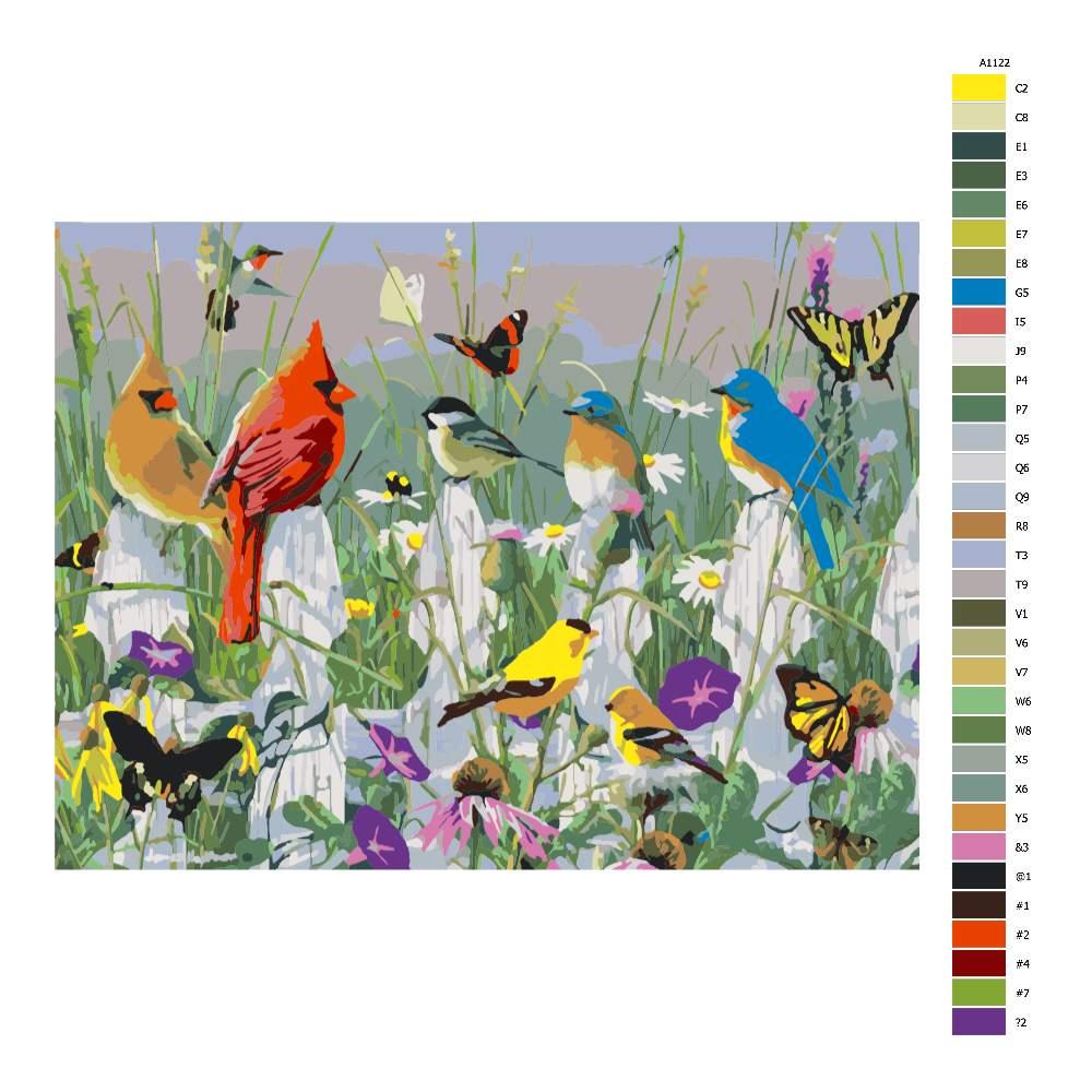 Návod pro malování podle čísel Polní život