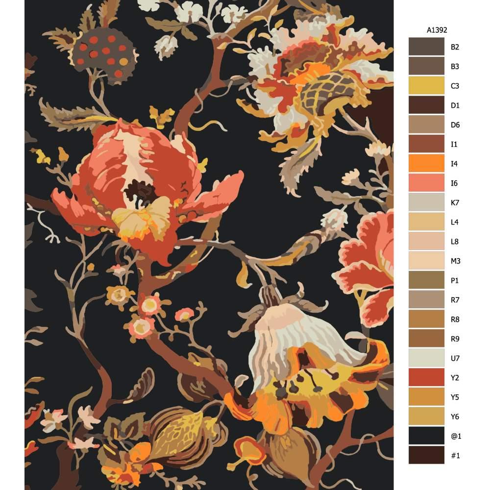 Malování podle čísel Ďáblovy květy