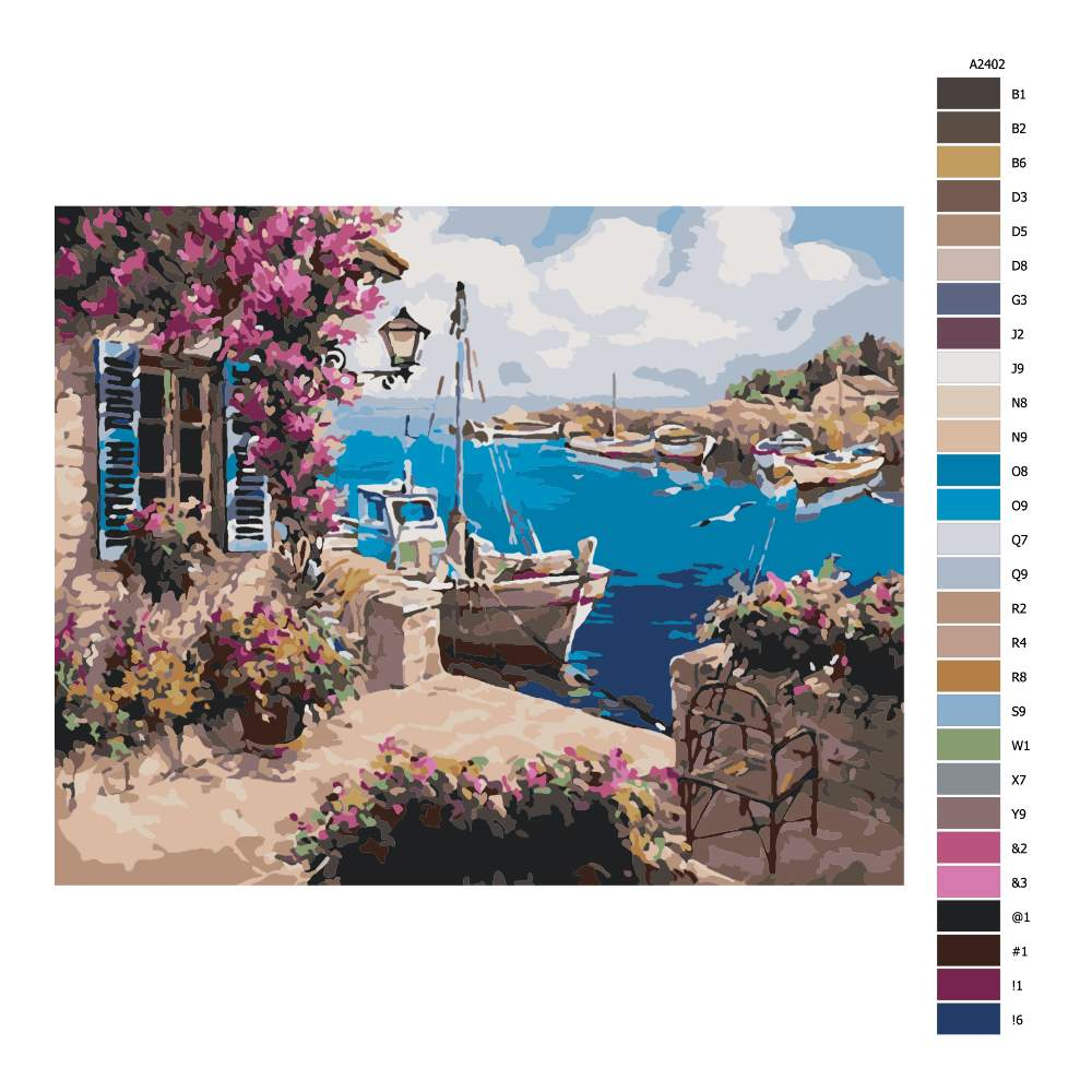 Návod pro malování podle čísel Soukromý přístav