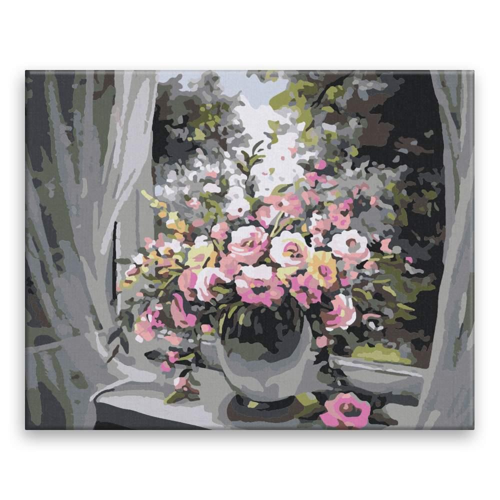Malování podle čísel Váza v okně